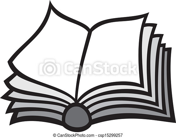 Open Book Line Drawing Open book.