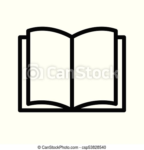 open book icon on white background vector illustration eps vector rh canstockphoto co uk  open facebook graphic