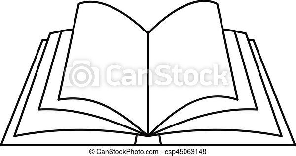 Open Book Line Drawing Open book icon,...