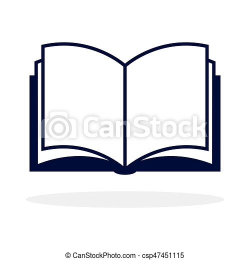 open book icon isolated on white background vector vector clip rh canstockphoto com