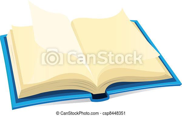 Open Book Icon - csp8448351