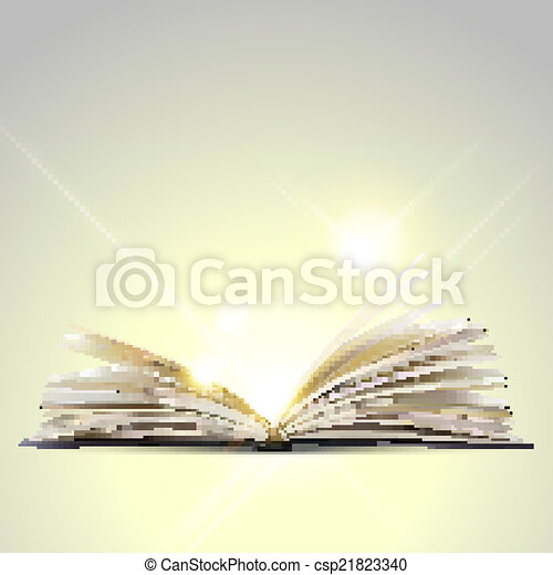 Open book isolated on white background - csp21823340
