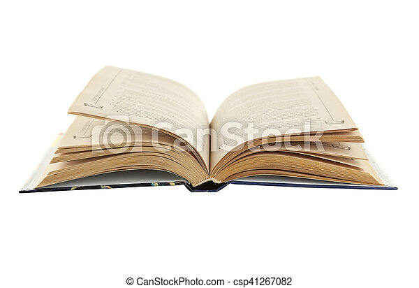 Open book isolated on white - csp41267082