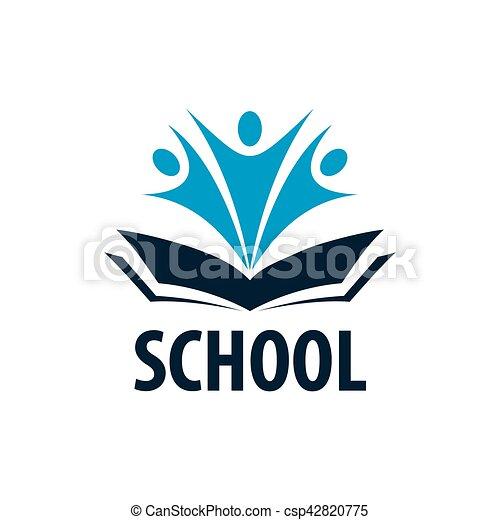 open book logo template design logo school vector vectors rh canstockphoto com open book logo design open book logo design