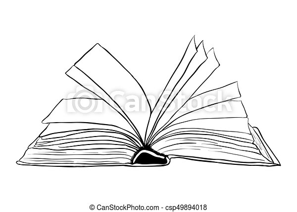 Open Book Line Drawing Open book outli...