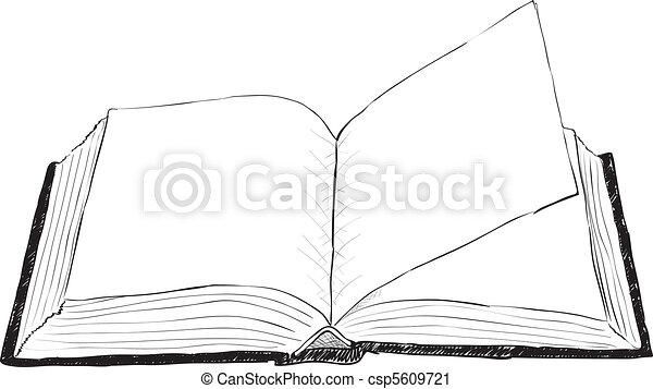 Open book - rough illustration