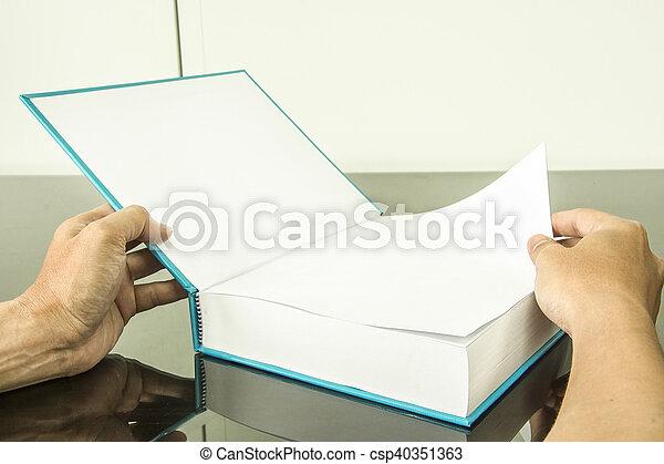 open book - csp40351363