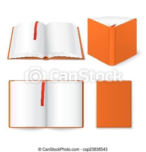 open book templates set decorative open closed and half opened hard