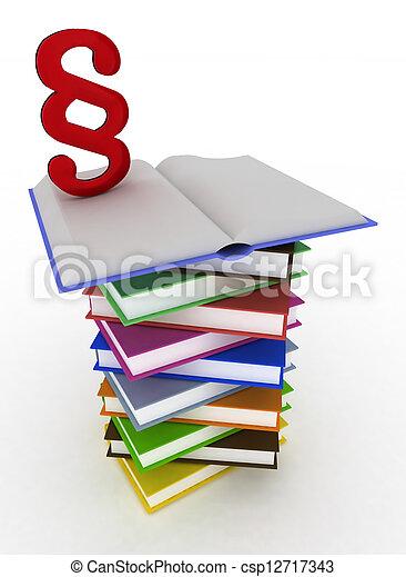 open book with a paragraph - csp12717343