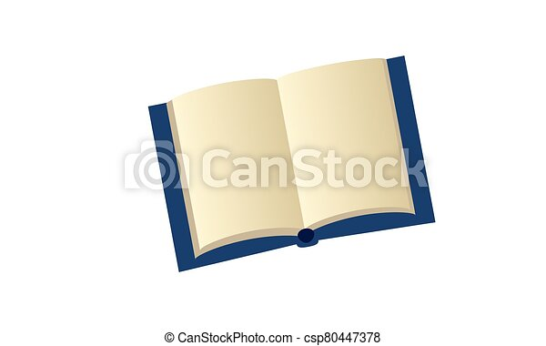 Open book with blank pages - csp80447378
