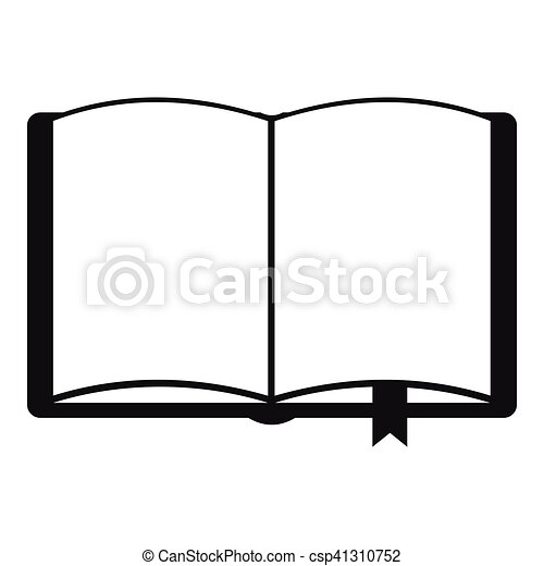 open book with bookmark icon simple style open book with rh canstockphoto com open book graphic images