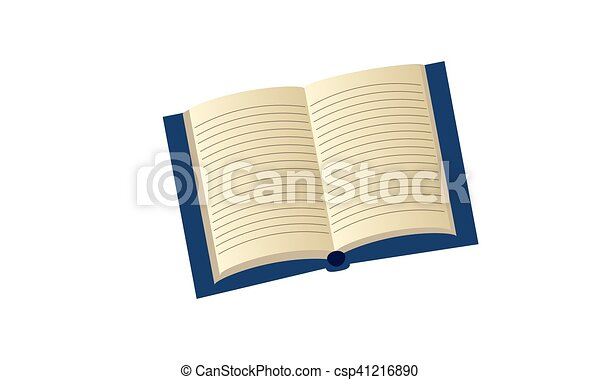 Open book with lines for writing - csp41216890