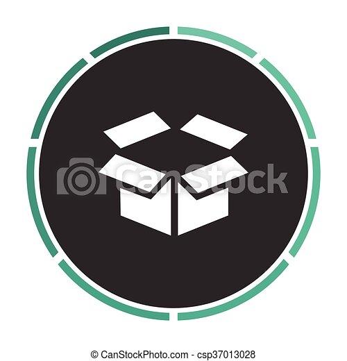 Open Box Computer Symbol Open Box Simple Flat White Vector