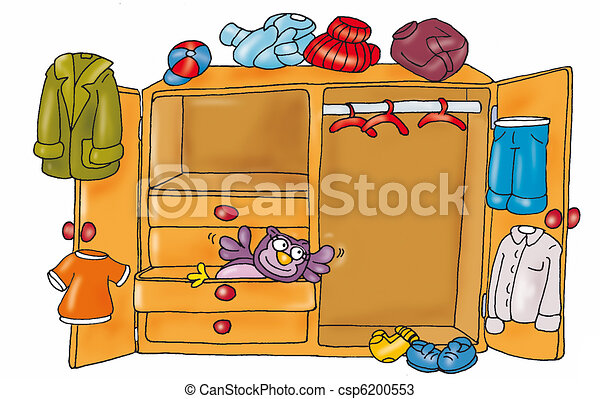 Open Cabinet Drawers Owls Clothes