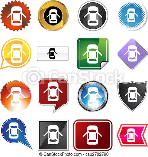 Open Car Door Alert Icon Set - csp2702790