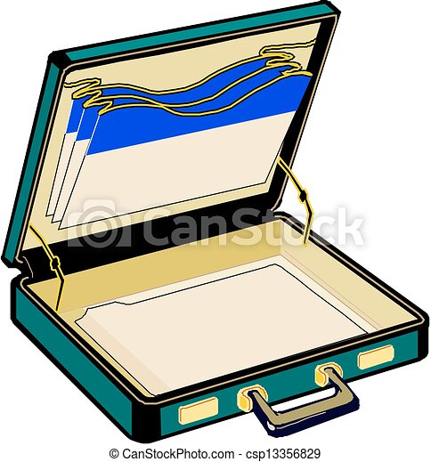 open case vector vector illustration search clipart drawings rh canstockphoto com free open suitcase clipart