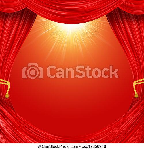 33b1ceb51 Open curtain. red fabric and yellow garter belt.
