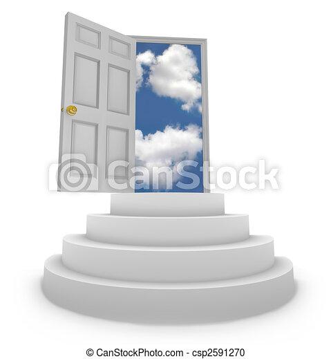 open deur, kansen, nieuw - csp2591270