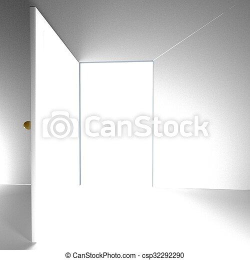Open door, 3d - csp32292290