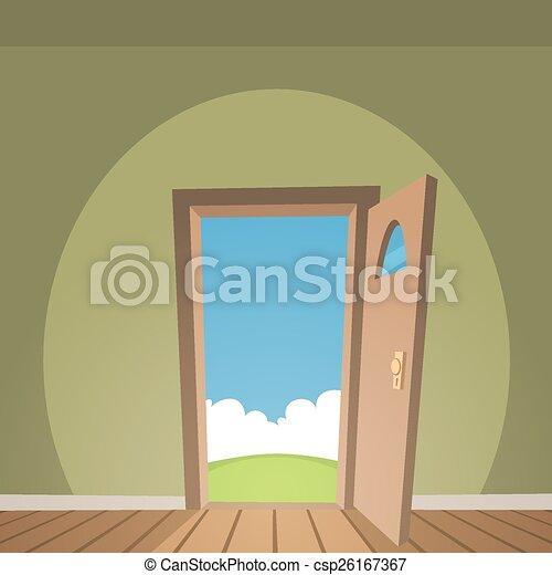 Door Clipart Vector Graphics 112468 EPS Clip Art And