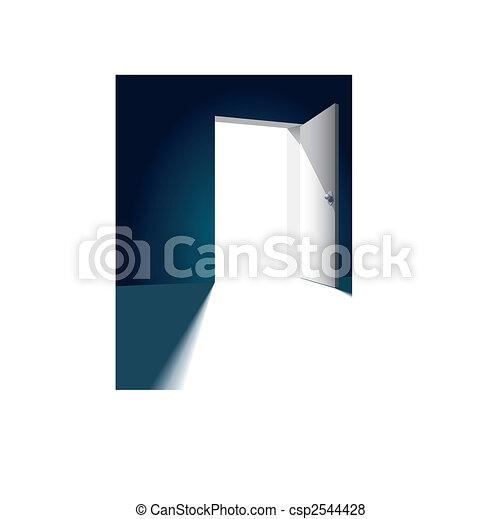 ... Open door - Open bright door opposite to dark wall vector.  sc 1 st  Can Stock Photo & Open door Clipart and Stock Illustrations. 33619 Open door vector ... pezcame.com