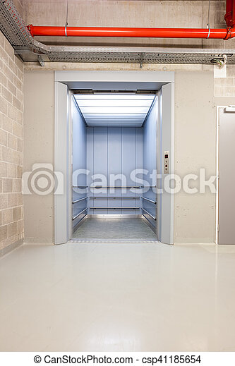 open elevator in the hall - csp41185654