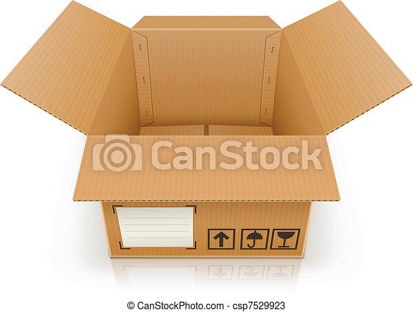 open empty cardboard box - csp7529923