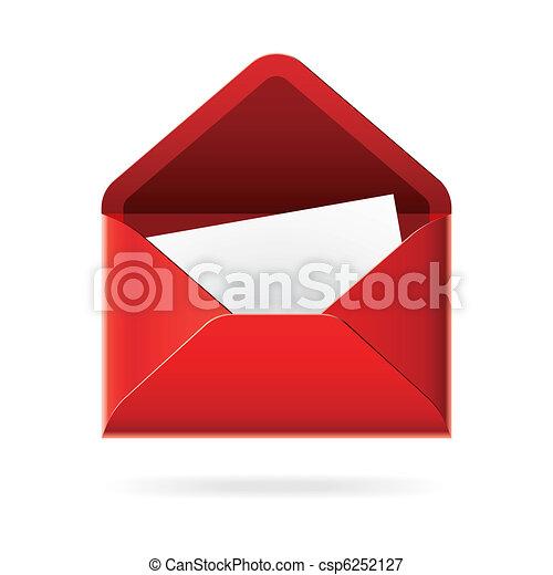 Open envelope icon - csp6252127