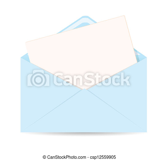 Open Envelope With Letter Vector Icon Eps 10