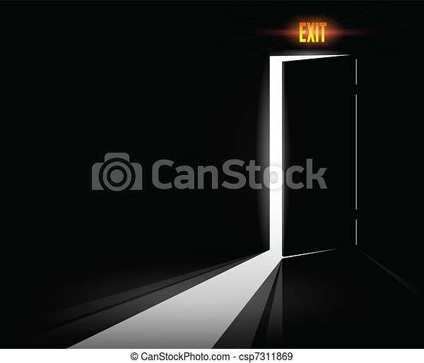 Open Exit Door - csp7311869