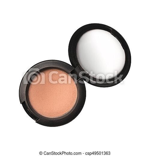 Open eyeshadows isolated on white - csp49501363