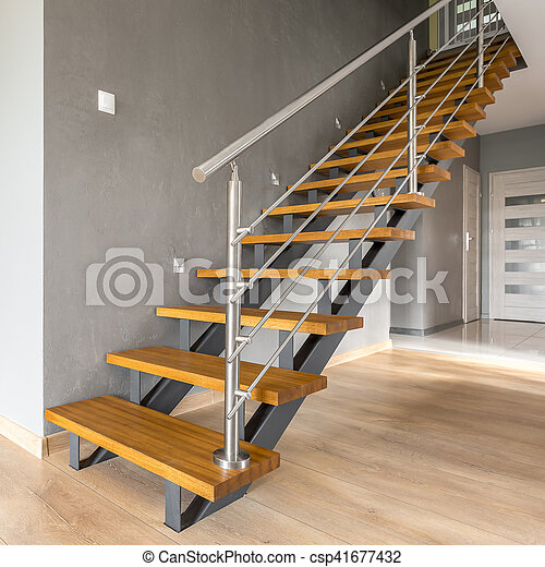 Open floor apartment with stairs - csp41677432