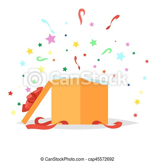 Open Gift Box Illustration Holiday Collection