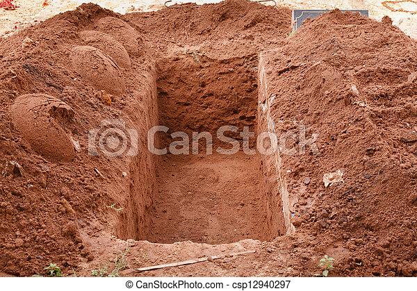 Open grave - csp12940297