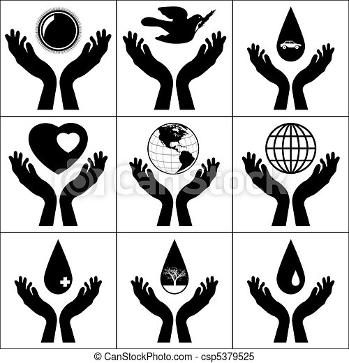 open hands held signs eps 8 vector file included clipart vector rh canstockphoto com open hands clip art free open hands clipart