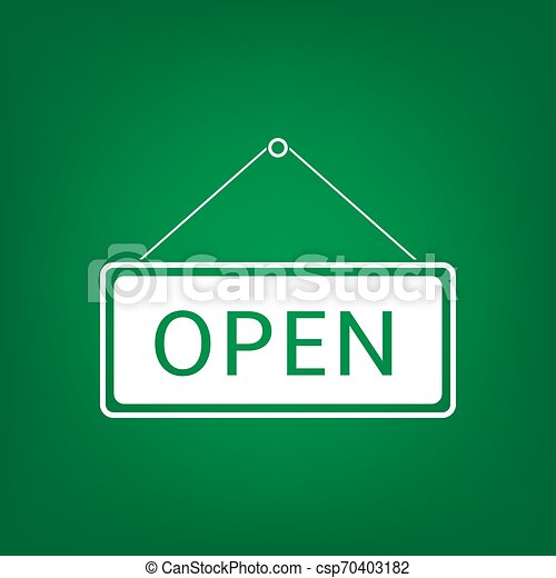 Open Hanging sign - csp70403182