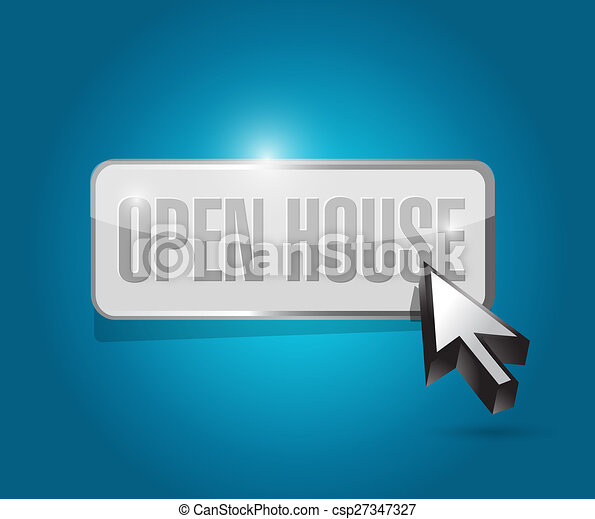 open house button sign concept - csp27347327