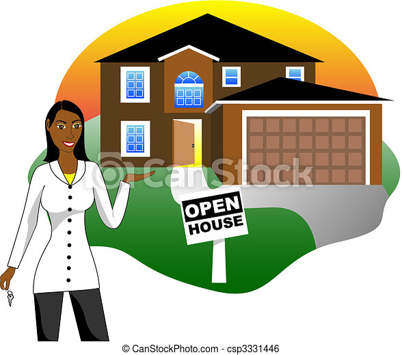 open house with agent vector illustration a real estate clip rh canstockphoto com open house clipart free christmas open house clipart