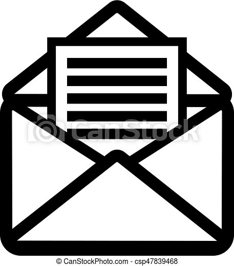 Open letter icon - csp47839468