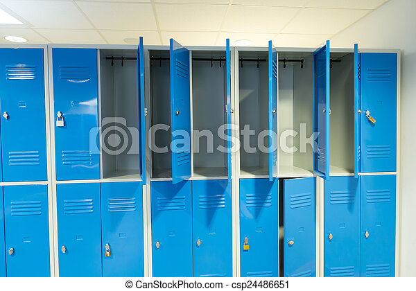Open Lockers In The Room