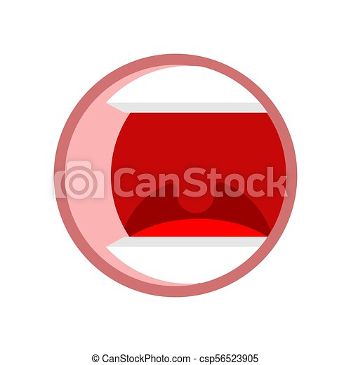 open mouth isolated tongue teeth and pharynx cartoon vector rh canstockphoto com free open mouth clip art open mouth clipart