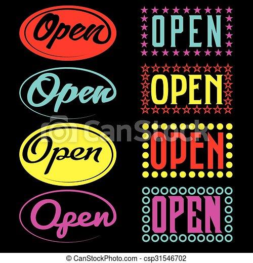 Open Neon Sign - csp31546702
