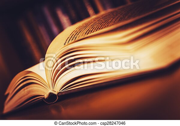Open Old Book - csp28247046