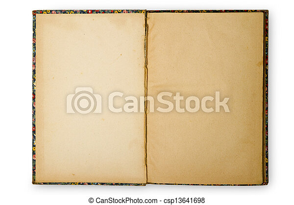 Open old book - csp13641698
