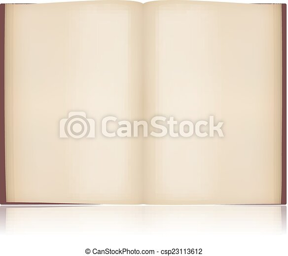open old book vector object template design