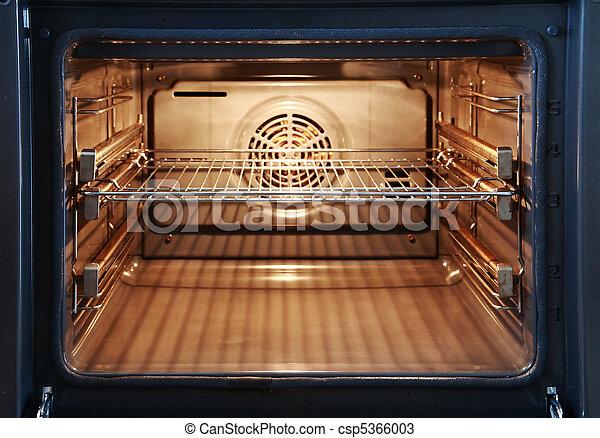 open oven in kitchen. open oven - csp5366003 in kitchen