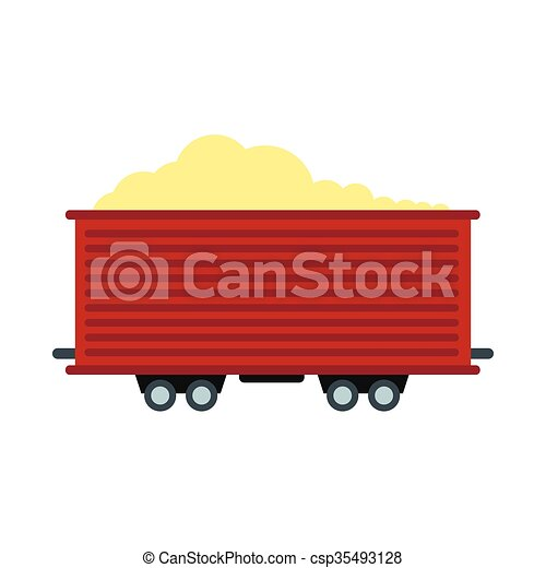 Open rail car icon