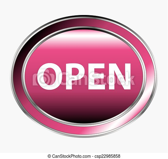 Open round isolated button - csp22985858