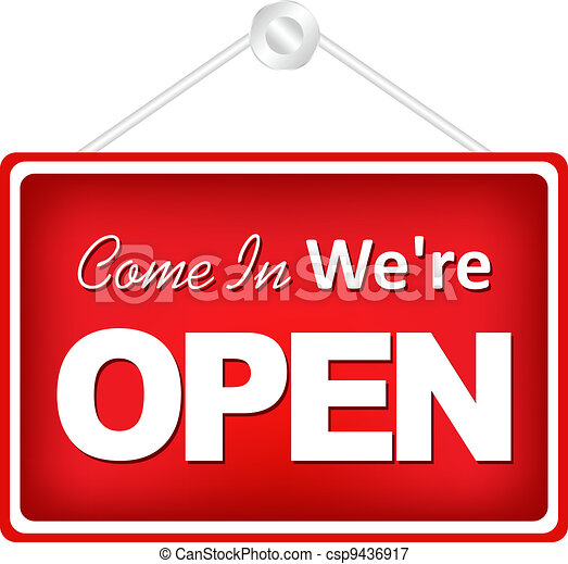 Open Sign - csp9436917