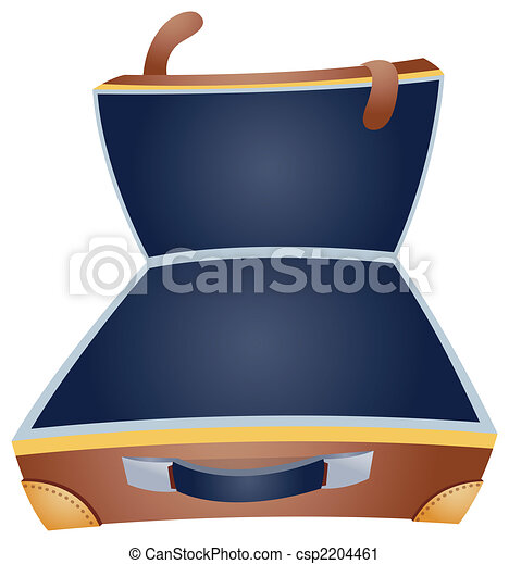 open suitcase opened suitcase is isolated on a white clipart rh canstockphoto com open suitcase clipart Suitcase Clip Art